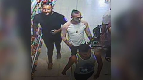 Police released security camera images of suspects in the acid attack on the 3-year-old boy in July 2018.