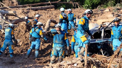 Rescue workers still dealing with the aftermath of deadly landslides and flooding are particularly at risk due to the scorching temperatures.