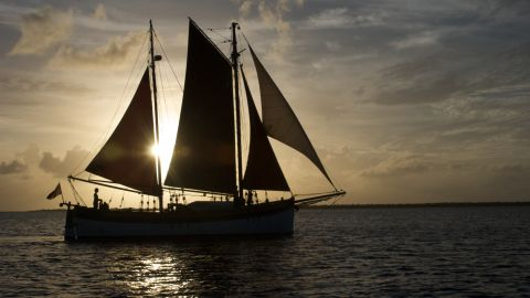 The Lista Light -- a 50-foot long, 35-ton converted former cod fishing boat built in Norway in 1935. In 2008, it was bought by married couple Katharine and David Lowrie, who have since sailed it around the world.