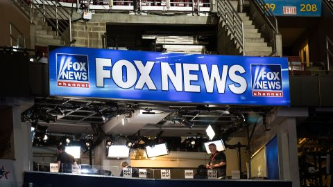PHILADELPHIA, PA - JULY 24: A view of the Fox News booth ahead of the Democratic National Convention at the Wells Fargo Center, July 24, 2016 in Philadelphia, Pennsylvania. The Democratic National Convention will formally kick off on Monday. (Photo by Drew Angerer/Getty Images)