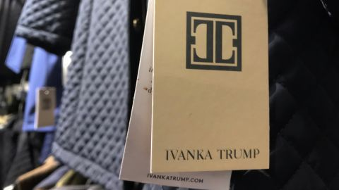 Labels and winter jacket clothing for the Ivanka Trump brand of clothing in a store in Madison, Wis., on Dec. 29, 2017. (AP Photo/Jon Elswick)