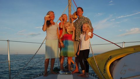 The Giffords set sail from the coast of Washington state in the US in 2008. Their trip, which took one year to plan, has encompassed 48 countries and territories over the past decade.