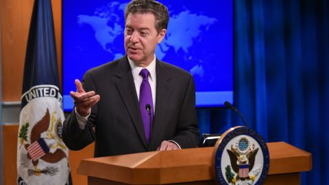 Sam Brownback, ambassador at large for international religious freedom, speaking in May 2018.