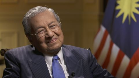 Malaysian Prime Minister Mahathir Mohamad speaks to CNN at his offices south of the country's capital Kuala Lumpur.