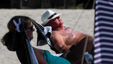CHICHESTER, ENGLAND - JULY 23: Beachgoers lie in the sun on West Wittering Beach during hot weather on the first day of the Summer school holidays on July 23, 2018 in Chichester, England. Today has been the hottest day of 2018 with temperatures rising to 33.3 degrees celsius in some areas. The Met Office have issued an amber weather warning to stay out of the sun between now and Friday as temperatures could continue to rise to 35 degrees celsius. (Photo by Jack Taylor/Getty Images)