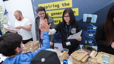 Jess Wade, in action at the Imperial College Festival