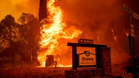 The Carr Fire tears through Shasta on July 26.