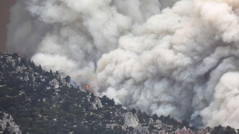 The Cranston Fire burns in San Bernardino National Forest, near Idyllwild, on Thursday, July 26. The Cranston Fire has prompted thousands to flee their homes.