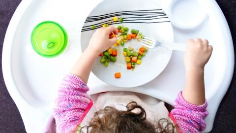 """Instead of pressuring your child, continue to cook meals that you enjoy and include one or two items the child likes. """"But don't cater to them and limit the menu to only things the child readily accepts,"""" warns Satter. """"And don't force them to eat. Let your child choose what and how much to eat of what you put on the table."""""""