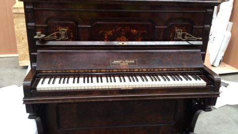 Julian Paton's antique piano was made in 1895. On July 26, the ivory keys were stripped by New Zealand's Department of Conservation in accordance with CITES ivory regulations.