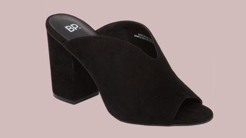 """<strong>BP. Tonya Open Toe Mule ($49.90, originally $79.95; </strong><a href=""""https://click.linksynergy.com/deeplink?id=Fr/49/7rhGg&mid=1237&u1=0720anniversarysale&murl=https%3A%2F%2Fshop.nordstrom.com%2Fs%2Fbp-tonya-open-toe-mule-women%2F4908909%3Forigin%3Dcategory-personalizedsort%26breadcrumb%3DHome%252FAnniversary%2520Sale%252FWomen%26color%3Dblack%2520suede"""" target=""""_blank"""" target=""""_blank""""><strong>nordstrom.com</strong></a><strong>)</strong><br />"""