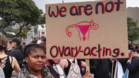 """@MarthaPuth Tweeted this image with the caption, """"#TotalShutDown March against gender based violence"""""""