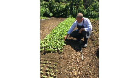 Drew Hiatt on his farmland