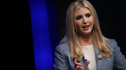 =Ivanka Trump, White House adviser and daughter of President Donald Trump, speaks during an Axios360 News Shapers event August 2, 2018 at the Newseum in Washington, DC. Axios held the event to discuss workforce development and 'news of the day.'  (Alex Wong/Getty Images)