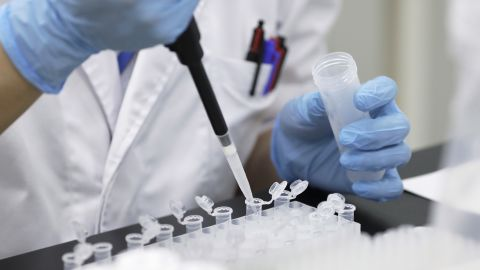 A technician prepares a test solution for processing DNA samples at a Genesis Healthcare Co. laboratory in Tokyo, Japan, on Wednesday, July 4, 2018. DNA testing at home in Japan is starting to gain traction as more people age and seek answers about their risks for diseases. Photographer: Kiyoshi Ota/Bloomberg via Getty Images