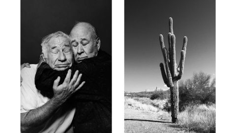 """The visual similarity between the men's heads and the arms of the cactus, as well as the absurd thought of hugging a cactus, might bring humor to a comparison of this pair, Aëgerter said. On a deeper level, though, the pictures might imply a conversation about friendship and intimacy. """"Friendship, even the deepest friendship, is something so challenging, because you can't love without feeling irritation and frustration and displeasure,"""" Aëgerter said. """"There is also for me this kind of deep wish that it would be possible to be always be in this empathetic cuddle, in this fusional intricate experience of the other, of the sharing, of the loving and caring, and that there will never come that level of irritation of problem or things that come in between, that would be what the cactus made me think of."""""""