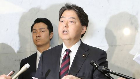 Japan's Education Minister Yoshimasa Hayashi at a press conference in April.