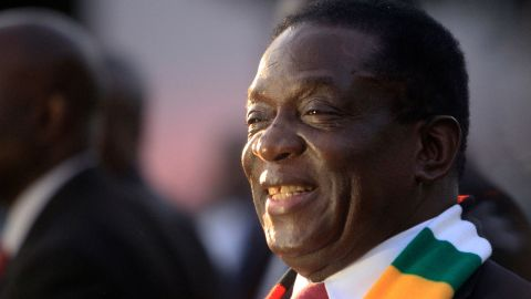 """Zimbabwean President-elect Emmerson Mnangagwa (above) says he wants to unite the country, but opposition figures call him a """"pretender."""""""