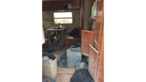 The children were found in a trailer with no plumbing.