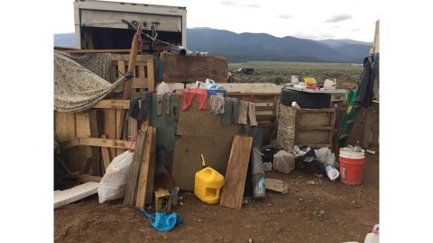 The children were found in a compound with virtually no food, police said.