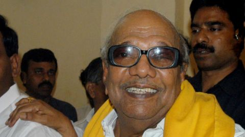 Muthuvel Karunanidhi, pictured in 2006, died Tuesday at the age of 94.