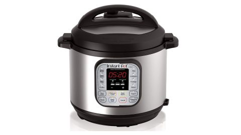 """<strong>Instant Pot 7-in-1 Multi-Use Programmable Pressure Cooker ($99.95; </strong><a href=""""https://amzn.to/2vrgS9o"""" target=""""_blank"""" target=""""_blank""""><strong>amazon.com</strong></a>)"""