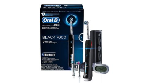 """<strong>Oral-B 7000 SmartSeries Rechargeable Power Electric Toothbrush ($129.94; </strong><a href=""""https://amzn.to/2OLSkQu"""" target=""""_blank"""" target=""""_blank""""><strong>amazon.com</strong></a>)"""