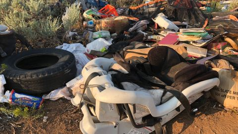 A compound in New Mexico on which 11 children were found with little access to food or water.