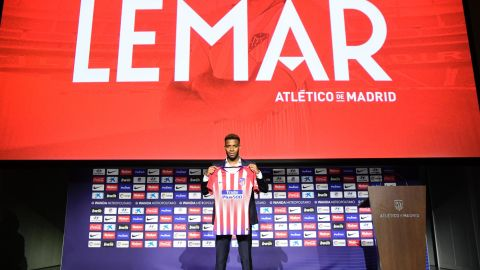 """Thomas Lemar joined compatriots Antoine Griezmann and Lucas Hernandez at Atletico Madrid after the 22-year-old Frenchman agreed to join the Spanish club from Monaco for $67.8 million. """"I'm very happy with the decision I made,"""" said the winger."""