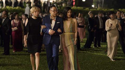 "Awkwafina, Nico Santos and Constance Wu star in ""Crazy Rich Asians."" Sanja Bucko/Warner Bros. Entertainment Inc./RatPac-Dune Entertainment LLC"