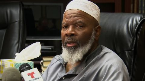 Imam Siraj Wahhaj is the FATHER of Siraj Wahhaj (same name), who was arrested at the compound outside of Taos, New Mexico.