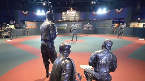 """The """"Field of Dreams"""" inside the Negro Leagues Baseball Museum."""