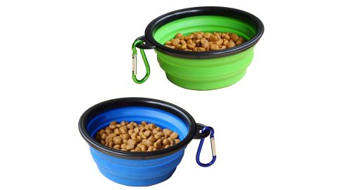 """<strong>STARUBY Collapsible Dog Bowl - 2 Pack ($5.39; </strong><a href=""""https://amzn.to/2noBhaT"""" target=""""_blank"""" target=""""_blank""""><strong>amazon.com</strong></a><strong>)</strong>"""