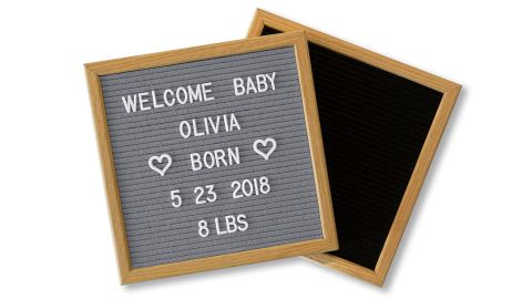 """<strong>Double Sided Felt Letter Board ($29.99; </strong><a href=""""https://amzn.to/2Mf4sex"""" target=""""_blank"""" target=""""_blank""""><strong>amazon.com</strong></a><strong>)</strong>"""