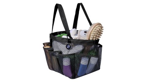 """<strong>Portable Caddy with 8 Mesh Storage Pockets (starting at $7.99; </strong><a href=""""https://amzn.to/2OqPVtz"""" target=""""_blank"""" target=""""_blank""""><strong>amazon.com</strong></a><strong>)</strong>"""