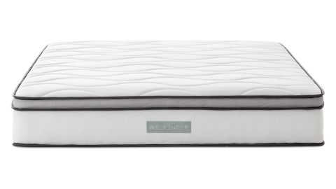 """<strong>WEEKENDER Memory Foam Hybrid Mattress (starting at $199.99; </strong><a href=""""https://amzn.to/2MudaSW"""" target=""""_blank"""" target=""""_blank""""><strong>amazon.com</strong></a><strong>)</strong>"""