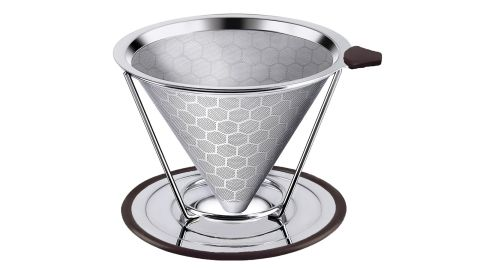 """<strong>Premium Stainless Steel Coffee Filter ($14.47; </strong><a href=""""https://www.amazon.com/dp/B07HMP51FX/ref=as_li_ss_tl?ie=UTF8&linkCode=ll1&tag=021850fivestar-20&linkId=fae7b36220c3e0a87a0188098ab4c6cc&language=en_US"""" target=""""_blank"""" target=""""_blank""""><strong>amazon.com</strong></a><strong>)</strong>"""