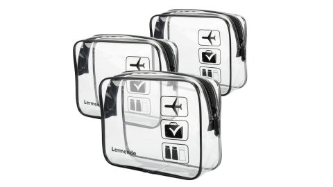 """<strong>TSA Approved Toiletry Bag - 3 Pieces ($12.99; </strong><a href=""""https://amzn.to/2vu93zO"""" target=""""_blank"""" target=""""_blank""""><strong>amazon.com</strong></a><strong>)</strong>"""