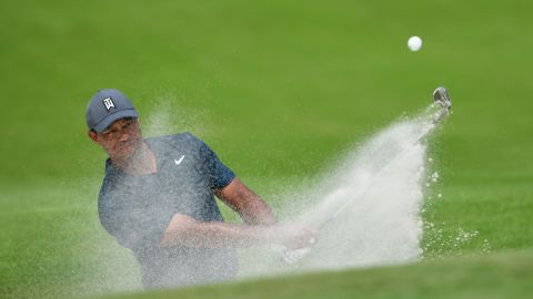 """""""I hung in there and turned it around,"""" said Woods as he reflected on his first round. """"I was able to grind out a score."""""""