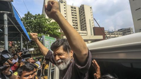 Alam outside a hospital in Dhaka Wednesday.