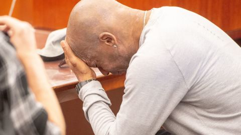 """Plaintiff Dewayne Johnson reacts after hearing the verdict to his case against Monsanto at the Superior Court Of California in San Francisco, California on August 10, 2018. - A California jury on Friday, August 10, 2018 ordered agrochemical giant Monsanto to pay nearly $290 million for failing to warn a dying groundskeeper that its weed killer Roundup might cause cancer. Jurors found Monsanto acted with """"malice"""" and that its weed killers Roundup and the professional grade version RangerPro contributed """"substantially"""" to Dewayne Johnson's terminal illness. (Photo by JOSH EDELSON / AFP)        (Photo credit should read JOSH EDELSON/AFP/Getty Images)"""
