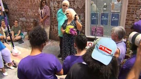 Susan Bro at memorial