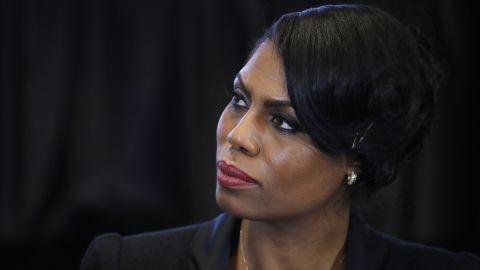 In this Feb. 27, 2017 photo, Omarosa Manigault, director of communications for the White House Office of Public Liaison, listens to Vice President Mike Pence speak during a listening session with the historically black colleges and universities at the Eisenhower Executive Office Building on the White House complex in Washington. (AP/Manuel Balce Ceneta, File)