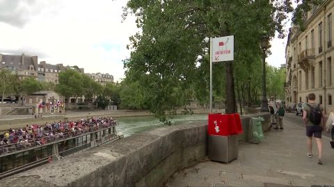 One urinal, located near the Notre Dame cathedral, overlooks the River Seine.