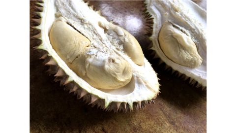 <strong>The right cut:</strong> In Thailand, people prefer to eat durian a little bit early to give them a longer shelf life and a starchy, sweet flavor with hardly any aroma at all.