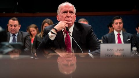 WASHINGTON, DC - MAY 23: Former Director of the U.S. Central Intelligence Agency (CIA) John Brennan testifies before the House Permanent Select Committee on Intelligence on Capitol Hill, May 23, 2017 in Washington, DC. Brennan is discussing the extent of Russia's meddling in the 2016 U.S. presidential election and possible ties to the campaign of President Donald Trump. (Photo by Drew Angerer/Getty Images)