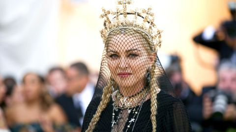 """Madonna attends The Metropolitan Museum of Art's Costume Institute Benefit gala celebrating the opening of the  <br />""""Heavenly Bodies: Fashion and the Catholic Imagination"""" exhibition on May 7 in New York."""