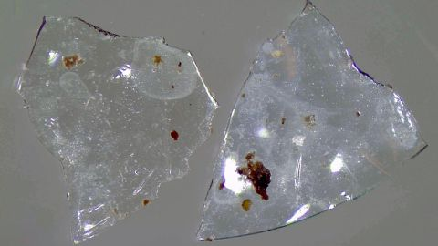 Contact lens fragments found in treated sewage sludge could be bad for the environment.