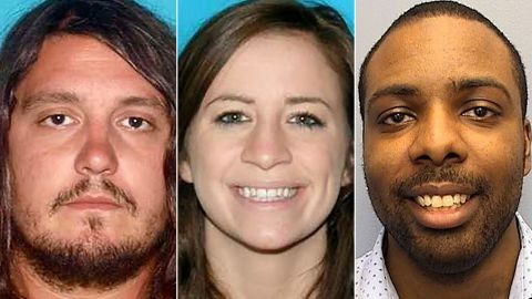 Nashville police say the shooting deaths of (from left) Bartley Teal, Jaime Sarrantonio and Kendall Rice may be related.