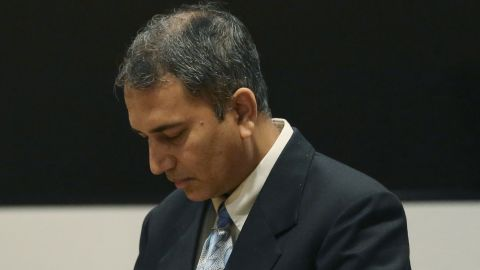 Former doctor Shafeeq Sheikh awaits his sentencing in court last week.